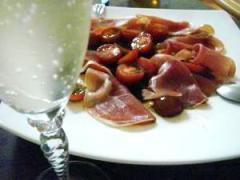 生ハムとトマトのマリネ