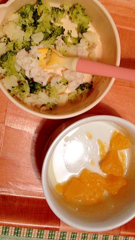 離乳食☆ブロッコリーとカレイ入りのポテサラ
