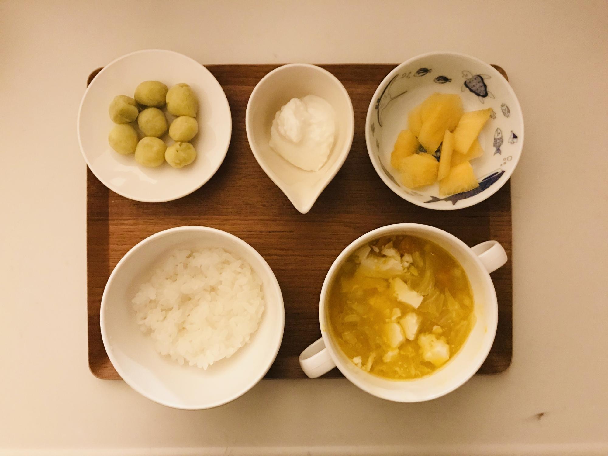 最近の、離乳食。ほっこり朝ごはん。