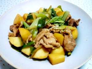 冬の豚肉とじゃがいもの煮物