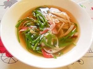 にらとえのきだけのスープ