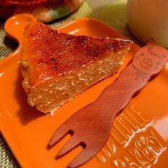 蕎麦粉のバスク風チーズケーキ