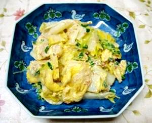 甘くておいしい白菜のマヨネーズ風味サラダです。