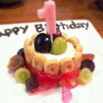 1歳のお誕生日ケーキ食パンとヨーグルトで簡単!