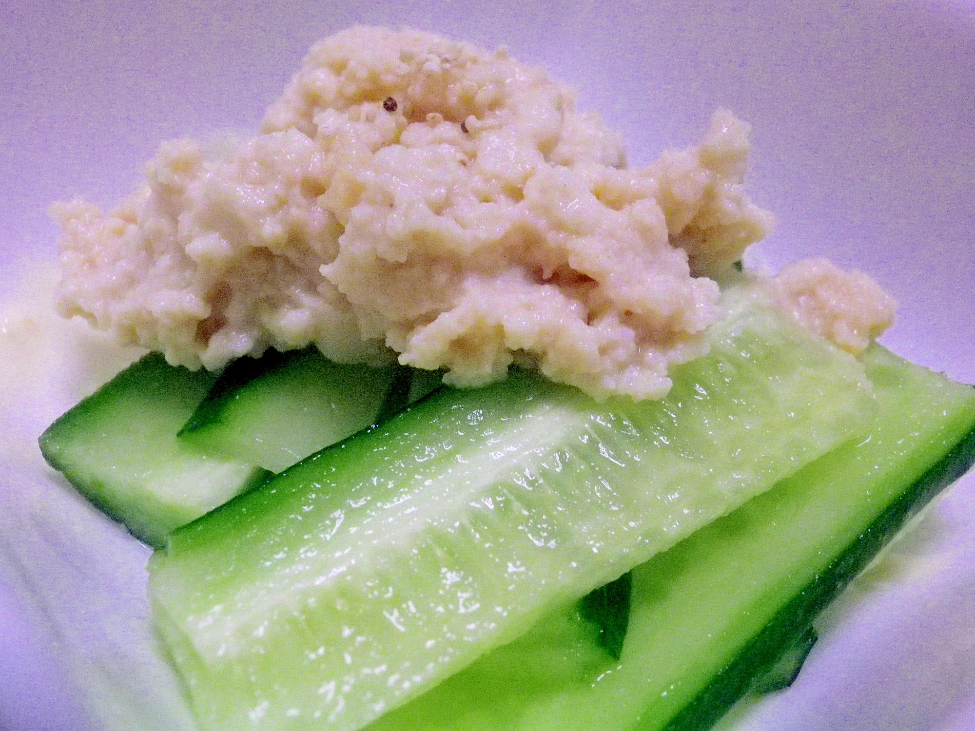 きゅうりの豆腐味噌
