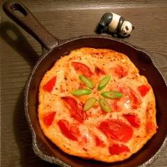 トマトたっぷり韓国風オープンオムレツ