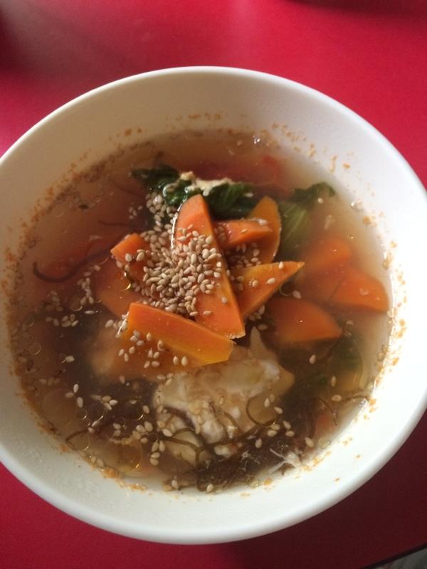 つかりすぎたぬか漬けを活用!酸味効いたスープ