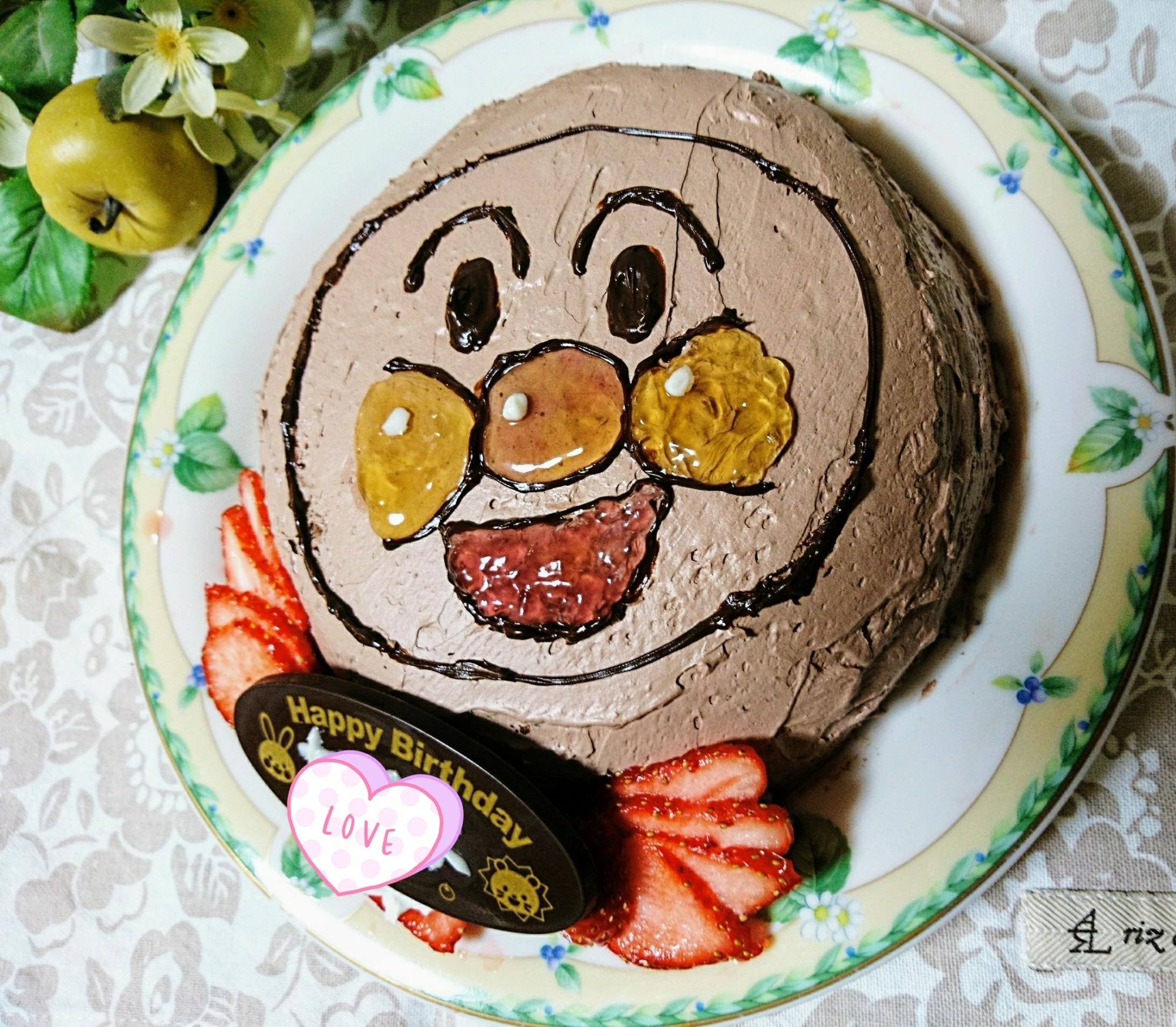 のアンパンマンケーキ レシピ・作り方 by ピコタン|楽天レシピ