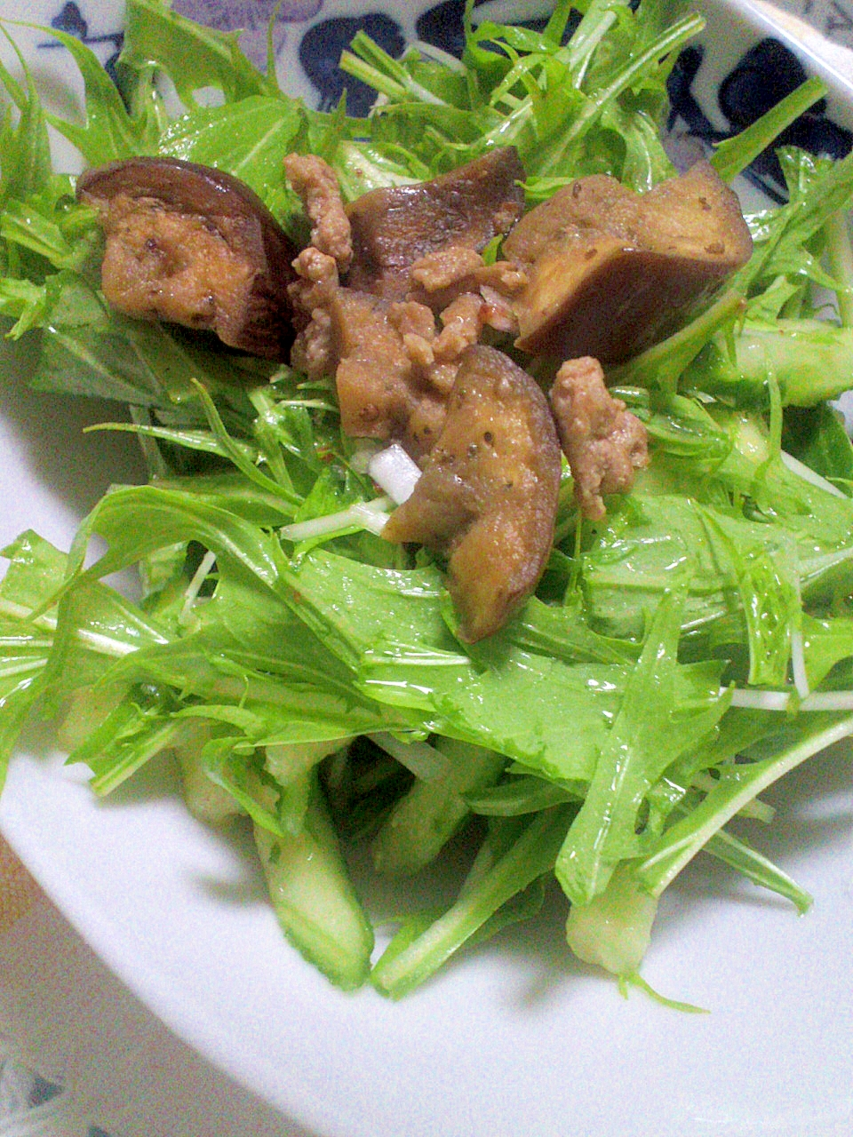 野菜たっぷり♪ひき肉&なすの炒めサラダ