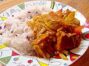 中華鍋で簡単☆厚揚げの和風カレー
