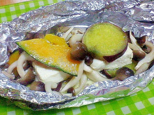 秋野菜と豆腐のホイル焼き
