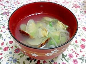 5. 長ネギとあさりの塩バタースープ