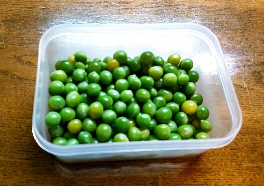グリーンピースの冷凍保存方法
