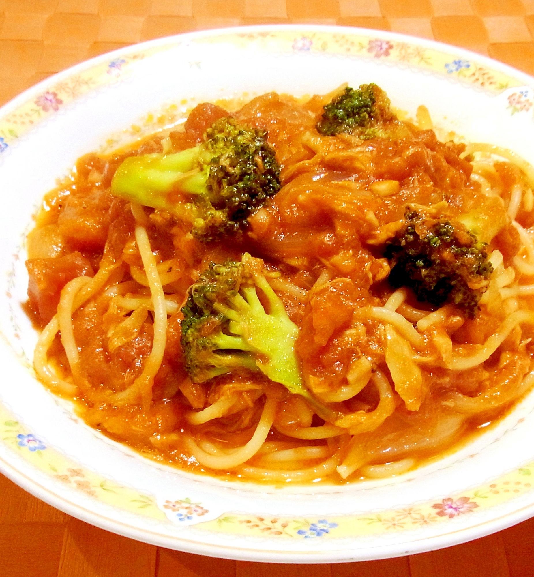 ツナとブロッコリーのトマトソースパスタ レシピ・作り方 by ☆メリッコ☆|楽天レシピ