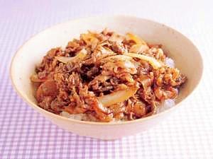 生姜が決め手の牛丼