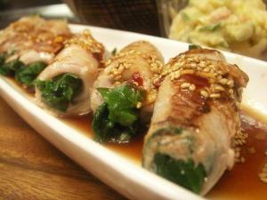 豚肉のにら巻き~にんにく酢醤油だれ~ レシピ・作り方 by あいちゃんKOBE|楽天レシピ