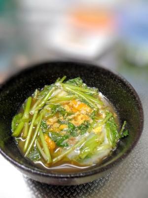 和食の副菜☆セリの卵とじ