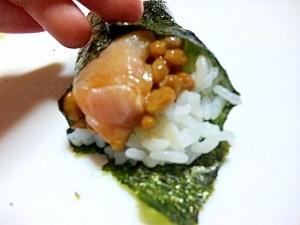 うまうま手巻き寿司♪納豆とマグロver