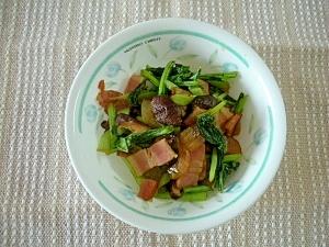お弁当に♪小松菜とシイタケのカルシウムソテー