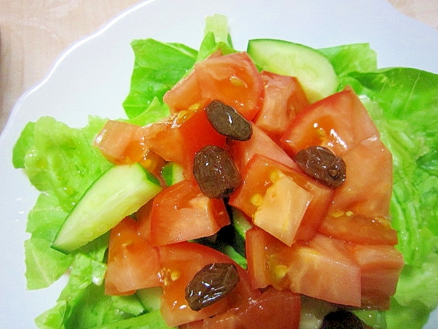 ラムレーズンとりんご酢のサラダ