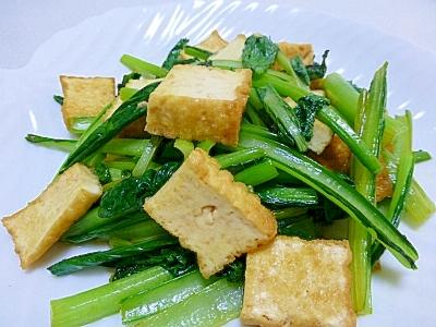 【簡単】小松菜と厚揚げ炒め