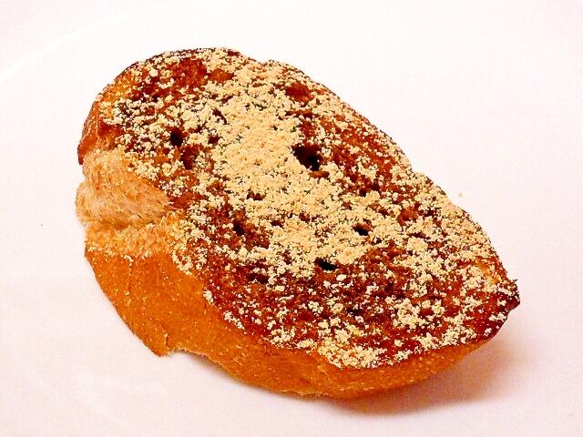黒蜜黒酢きな粉トースト