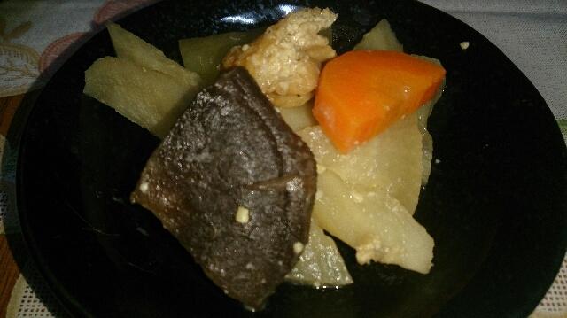 ヤーコンの味噌煮