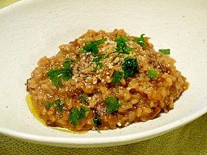 ポルチーニの塩麹イタリアンリゾット