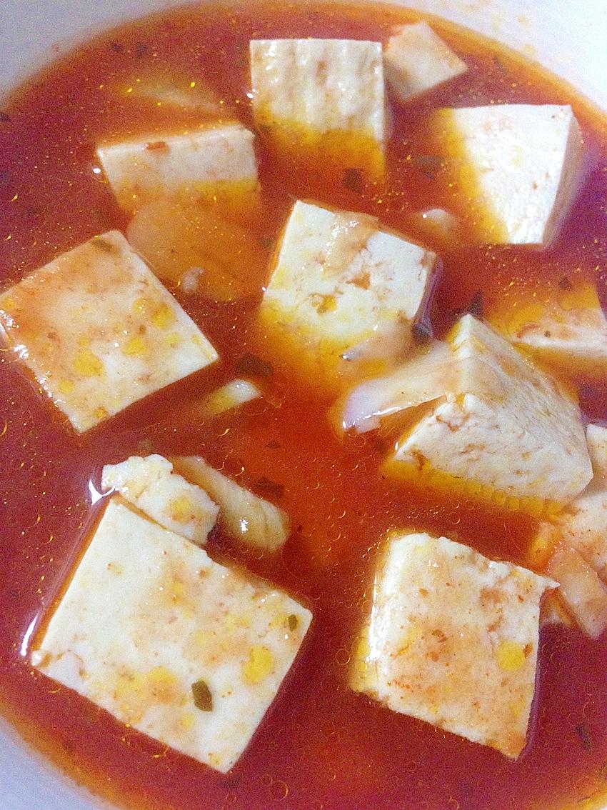 ピリ辛トマトスープ