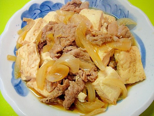 19. 豆腐と豚肉のすき焼き風