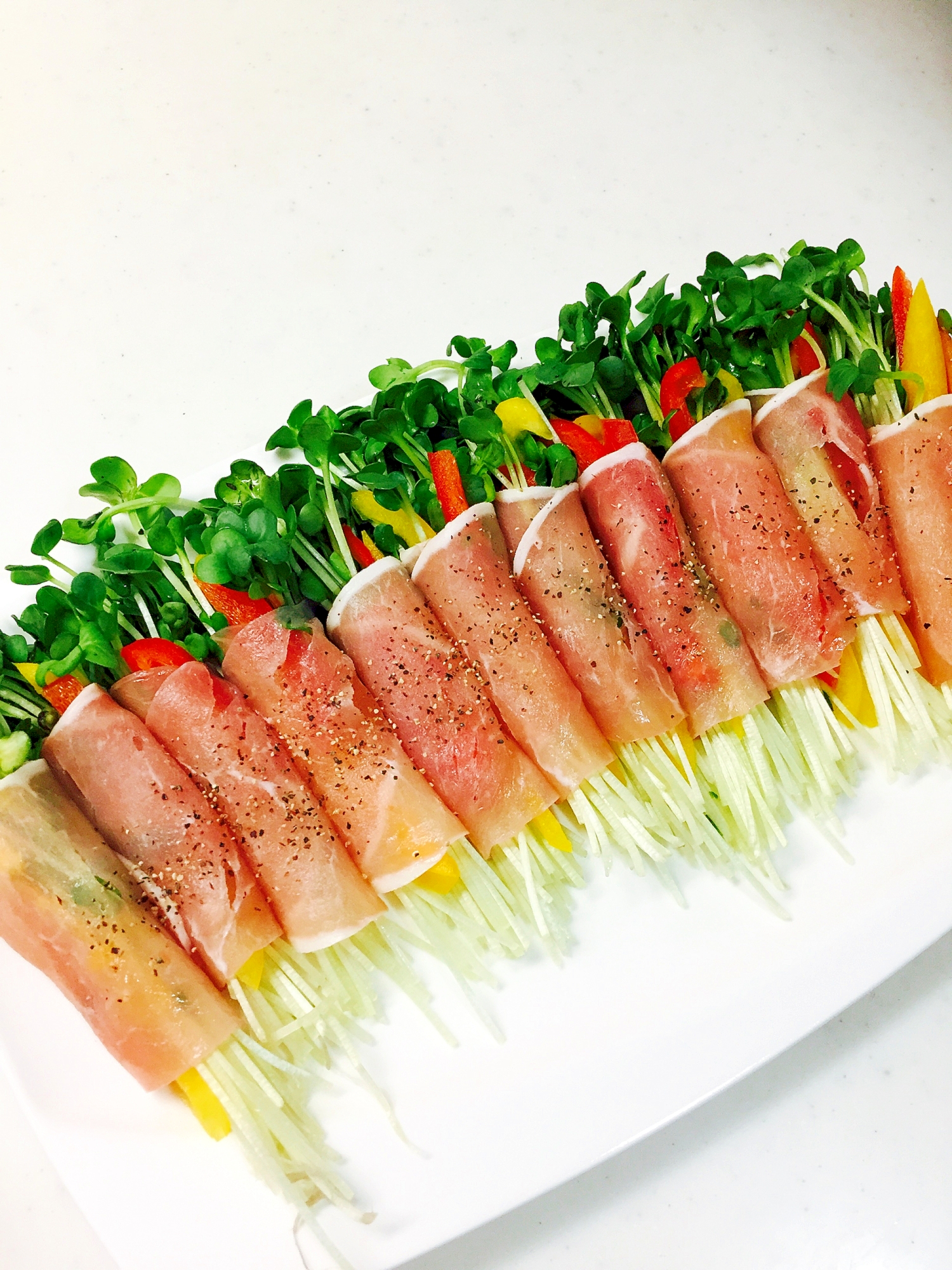 おつまみにあと一品!野菜の生ハム巻き レシピ・作り方