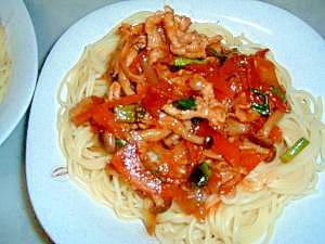 コチュジャン入りトマトスパゲティ