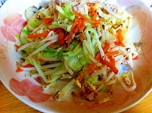 簡単ヘルシー☆鶏挽肉の野菜炒め