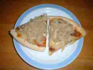 ホタテのピザ