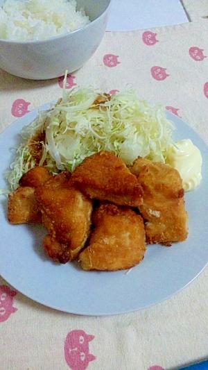 定番シンプルお弁当のおかずにも☆鶏むね肉のから揚げ