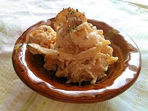 切干大根とベビーホタテのマヨ和えサラダ