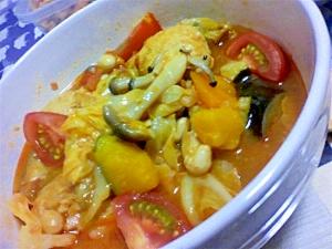 夏野菜とミートボールのシチュー
