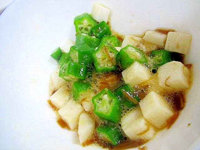 オクラと長芋のなめたけ和え レシピ・作り方