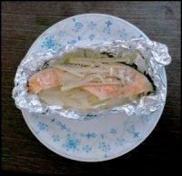 300円以下で作る。鮭のホイル焼き