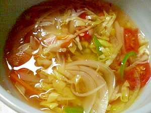レンジで一人分!脂肪燃焼スープ
