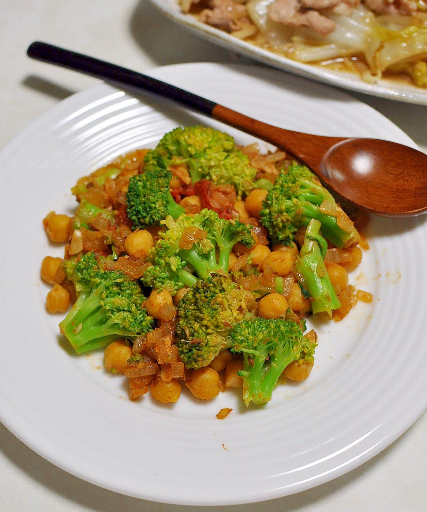 3. ひよこ豆とブロッコリーのサブジ