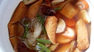 練り物・椎茸・糸こんで冷蔵庫整理の煮物