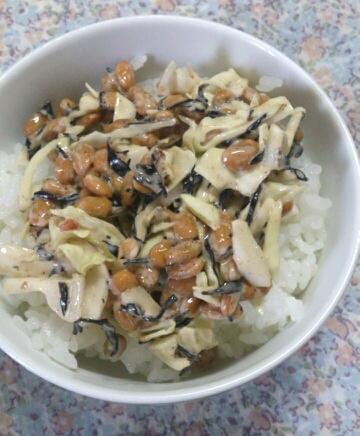 ひじきサラダ納豆ご飯