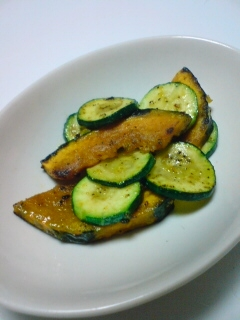 南瓜とズッキーニのオリーブオイル焼き