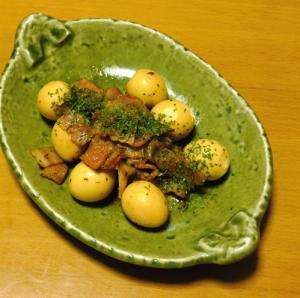 うずらの卵とベーコンの醤油煮