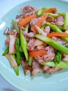 ササッとできちゃう☆豚小間と彩野菜の炒め物