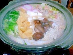胃腸に優しい生姜たっぷりとり団子鍋
