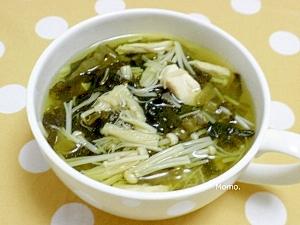高菜漬けとささみのスープ
