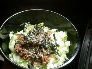 夏休みにぴったり☆肉味噌丼