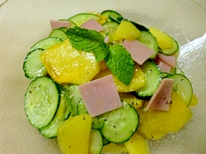 柿ときゅうりのサラダ